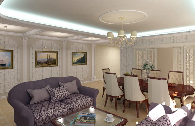 Интерьер гостиной в квартире на Праволыбедской [2014]