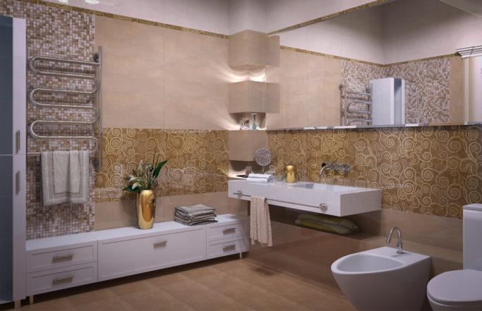 Интерьер загородного дома в Борках – ванные комнаты [2011]